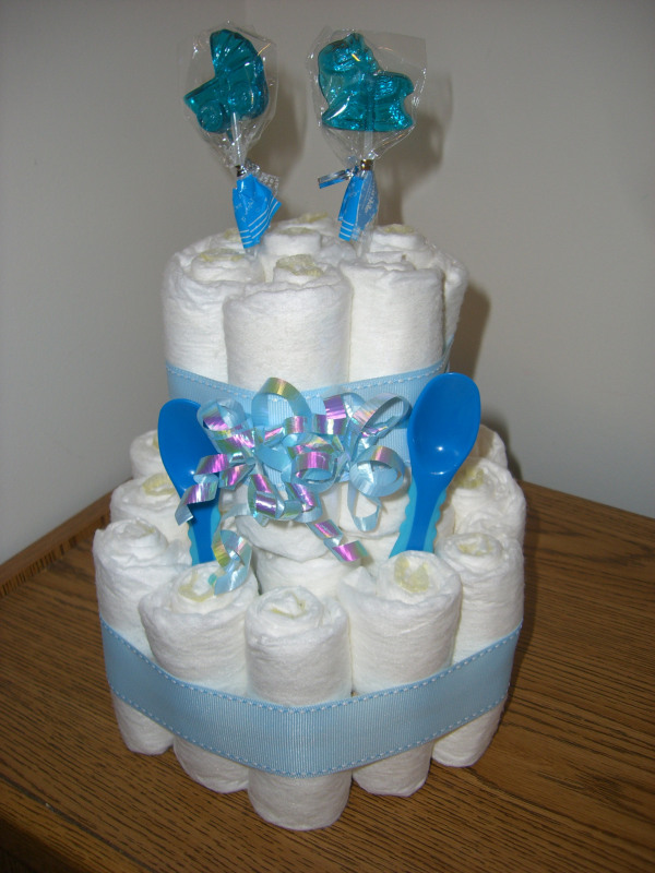 Diaper Cake Ideas For Baby Boy : Baby Boy Diaper Cakes - The Diaper Cake Bakery